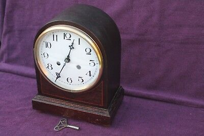 Vintage Antique Edwardian Chiming Dome Mantel Clock Working See Video
