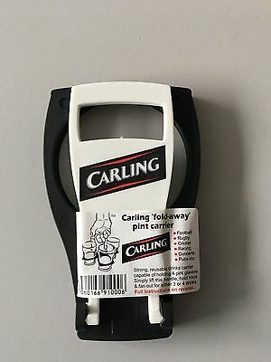Carling Offical CarryAround Fold Away Cup / Coffee / Pint/ Beer Carrier Holder
