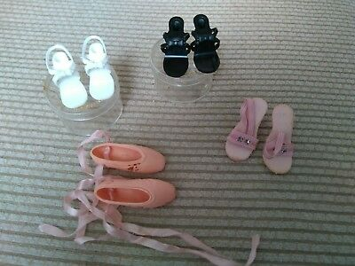 """Vintage Madame Alexander Cissy doll shoes and 2  18""""-20"""" high heel dooll shoes"""