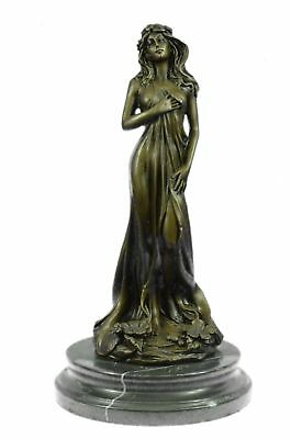 Hand Made European Bronze Real Aldo Vitaleh Liberated Maid-LEVEL Sculpture BC