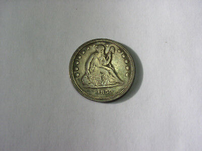 1859 Liberty Seated Quarter