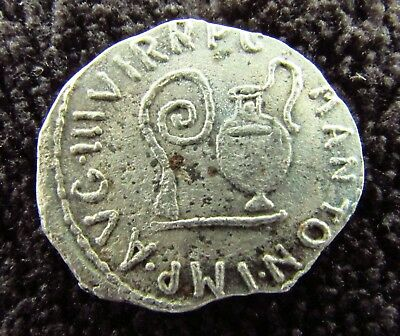 Ancient Roman AR Denarius of  MARK ANTONY  c. 43 BC (797+)