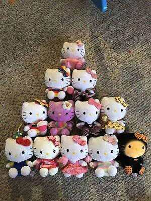 TY HELLO KITTY PLUSH TOY COLLECTION MIXED LOT OF 12 assorted beanie baby dolls
