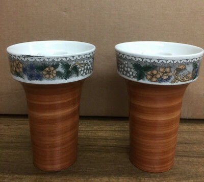 "Goebel Country  ""Burgund  (2) CANDLE HOLDERS"