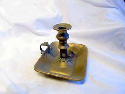 Antique Brass Push-Upchamberstick
