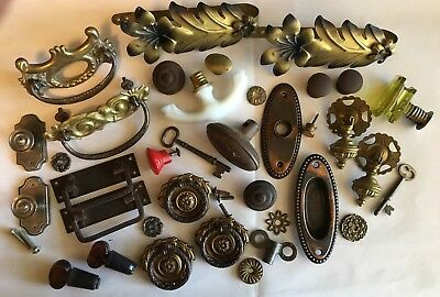 Lot of 36 Pieces of Nice Misc. Hardware for Crafts/Repurposing/Restoration