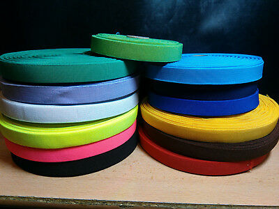 Elastic 20mm Check Pattern Tape Webbing Strap Braces Waistband-(17-Colours)