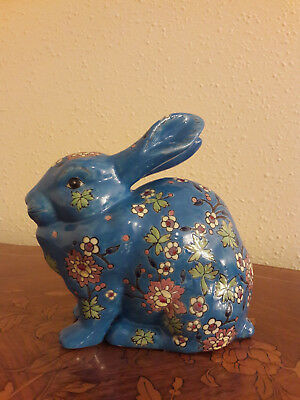 Lapin emaux et faience Longwy