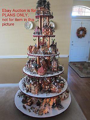 INSTRUCTIONS Dept 56 Lemax Easter Christmas Halloween Village Display Stand