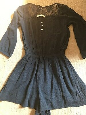 Abercrombie & Fitch A&F Navy Blue Playsuit BNWOT Large/ 13-14yrs