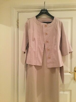 LK Bennet, lovely pale pink dress and jacket,size 10, new with tags .