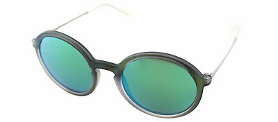 d2c53409bc871 Authentic Ray Ban RB4222 6169 3R Green Rubber Round Sunglasses Green Mirror  Lens