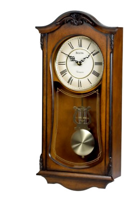 Bulova C3542 Cranbrook Old World Clock Old Classic Style Retro Walnut Finish
