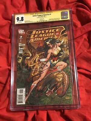 Cgc Ss 9.8~Justice League #7~Wonder Woman Turner Variant~Signed By Gal Gadot