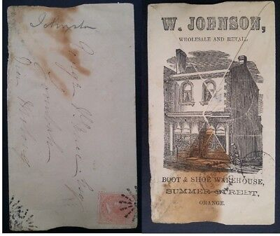 Rare 1885 Advertising Cover from Orange NSW to Molong - W Johnson Boot & Shoe