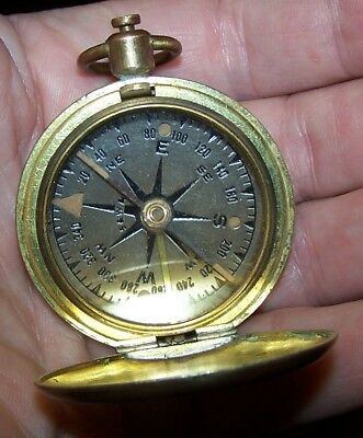 Military Compass Mfg by Schwab & Wuischpard NY In a brass case Marked U.S.