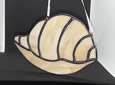 Stained Glass Sea Shell Wall/Window Decoration Handmade Gift Tiffany Style