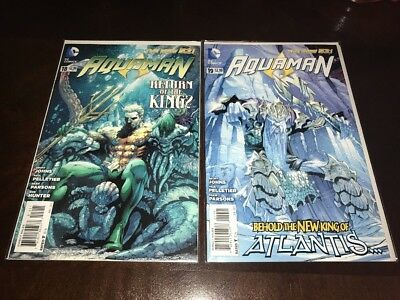 Aquaman #18 & #19 New 52 1st Appearance King Nereus