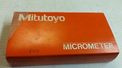 Mitutoyo 123-125 0 - 1 inch disc outside micrometer (.001)