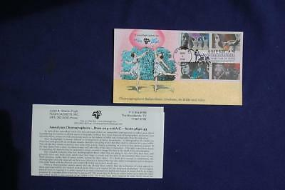American Choreographers 37c Stamps FDC Pugh HP Cachet Sc#3840-3843 204-16 Ailey