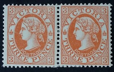 1901- Victoria Australia pr 3d Dull Orange Brown Postage Stamps Perf 12 X 12.5
