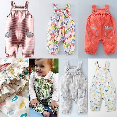 New Baby Mini Boden Girls Fun Animal Jersey Dungarees Overalls RRP £24 0-3m-2-3y