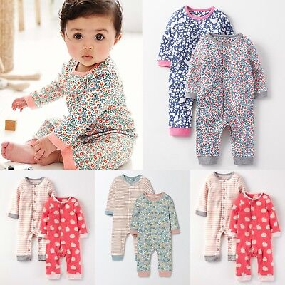 New Baby Mini Boden Girls Floral Animal Jersey Romper Sleepsuit RRP£16 0-3m-2-3y