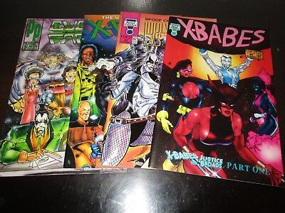 Lot of 4 BOOKS SPOOF COMICS, PARODY PRESS, ALL NUMBER 1's x-cons,x-babes, SEXYS