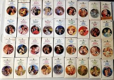 Mixed Lot of 36 Harlequin Presents Romance Paperback Books 70's ~ 80's ~ 90's