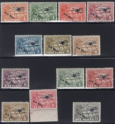 1931 New Guinea. SC#C1-C13 SG#137-149. Mint, Lightly/Never Hinged, Very Fine