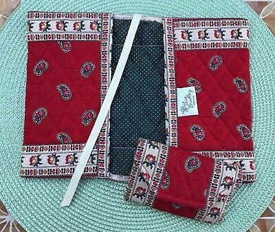 VTG Vera Bradley Apple Red Paperback Book Cover & Credit Card Case Indiana Tags