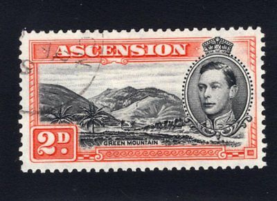 """1944 Ascension. SG#41aa. Used, Extra Fine. """"Mountaineer Flaw"""""""