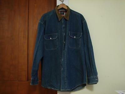 Vintage Gap Denim Button Up Long Sleeve Shirt Size L Large