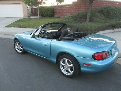 2001 Mazda MX-5 Miata  Garage Queen!  47,000 Original Miles - ONE OWNER.   5 Spd - Rare Crystal Blue