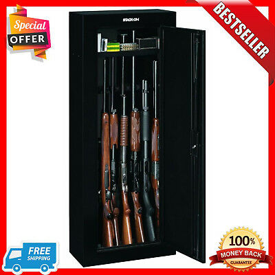 Stack On 8 Gun Cabinet Security Safe Rifles Short Gun Key Coded Lock Storage