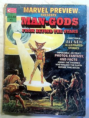 MARVEL PREVIEW #1 ~ 1975 Marvel Comics - Presents Man-Gods From Beyond the Stars