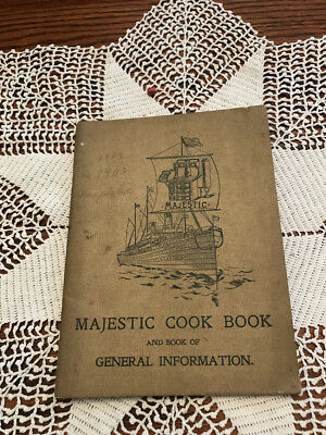 Vtg Majestic Range Cook Book Recipes & Catalog Great Graphics 96 pgs. 1892