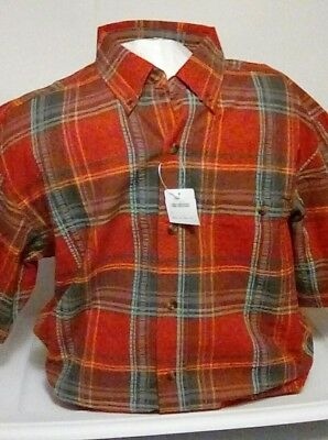 805651240 NEW Hobbs Creek Men's Seersucker Woven Plaid Short Sleeve Shirt Size Medium