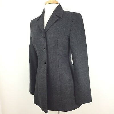 Sisley Timeless Dark Gray Wool Blazer Jacket Made in Italy Excellent 4/40