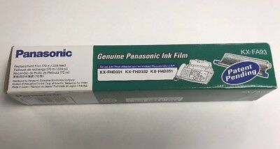 Genuine Panasonic Ink Replacement Film KX-FA93 for KX-FHD331 KX-FHD332 KX-FHD351