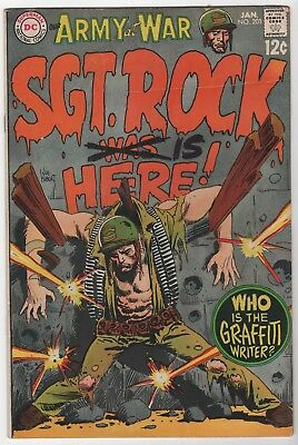 Our Army At War #201 In Very Good 4.0 Condition (Jan, 1969, DC)