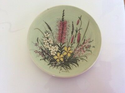 Guy Boyd Pottery,Floral Plate,signed H.Ilich,18 CMS.