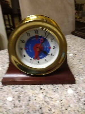 chelsea brass quartz battery clock 4 inch diameter
