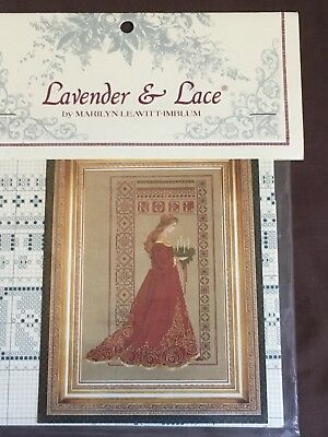 "Lavender and Lace Cross Stitch Pattern ""Celtic Christmas"" mediaeval myth fantasy"
