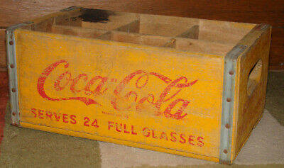 Vintage Family Size Coca-Cola Wooden Crate