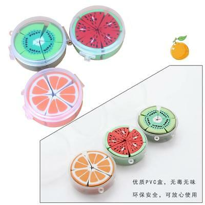 10pcs Colorful Fruit Numbers Eraser with Clear Storage Bottle Cartoon Rubber New