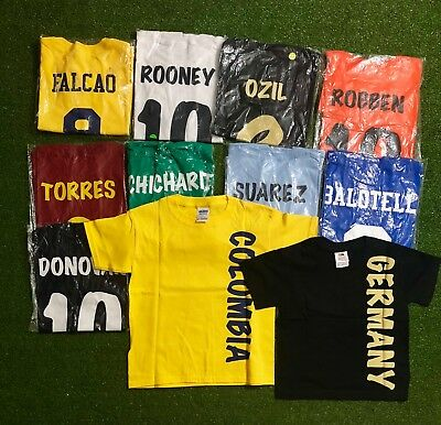 Lot of 40  Soccer Kids T shirt Mix Teams and sizes ( XS/S/M) .New. ONLY $ 5 each