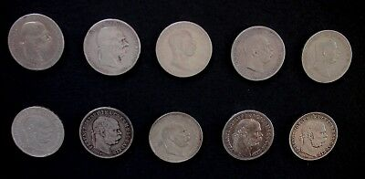 Austria Hungary 5 Crowns 5 Korona 900 Silver - Complete Set 1900-1909 (10 Coins)