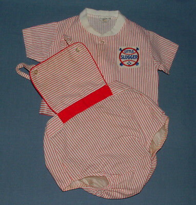 Vtg Fawn Fashions Baby Baseball Outfit Medium 13-20 Plastic Diaper Cover Pants