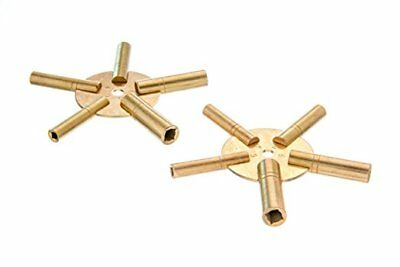 Universal Brass Clock/Watch Key Set, Odd & Even Sizes